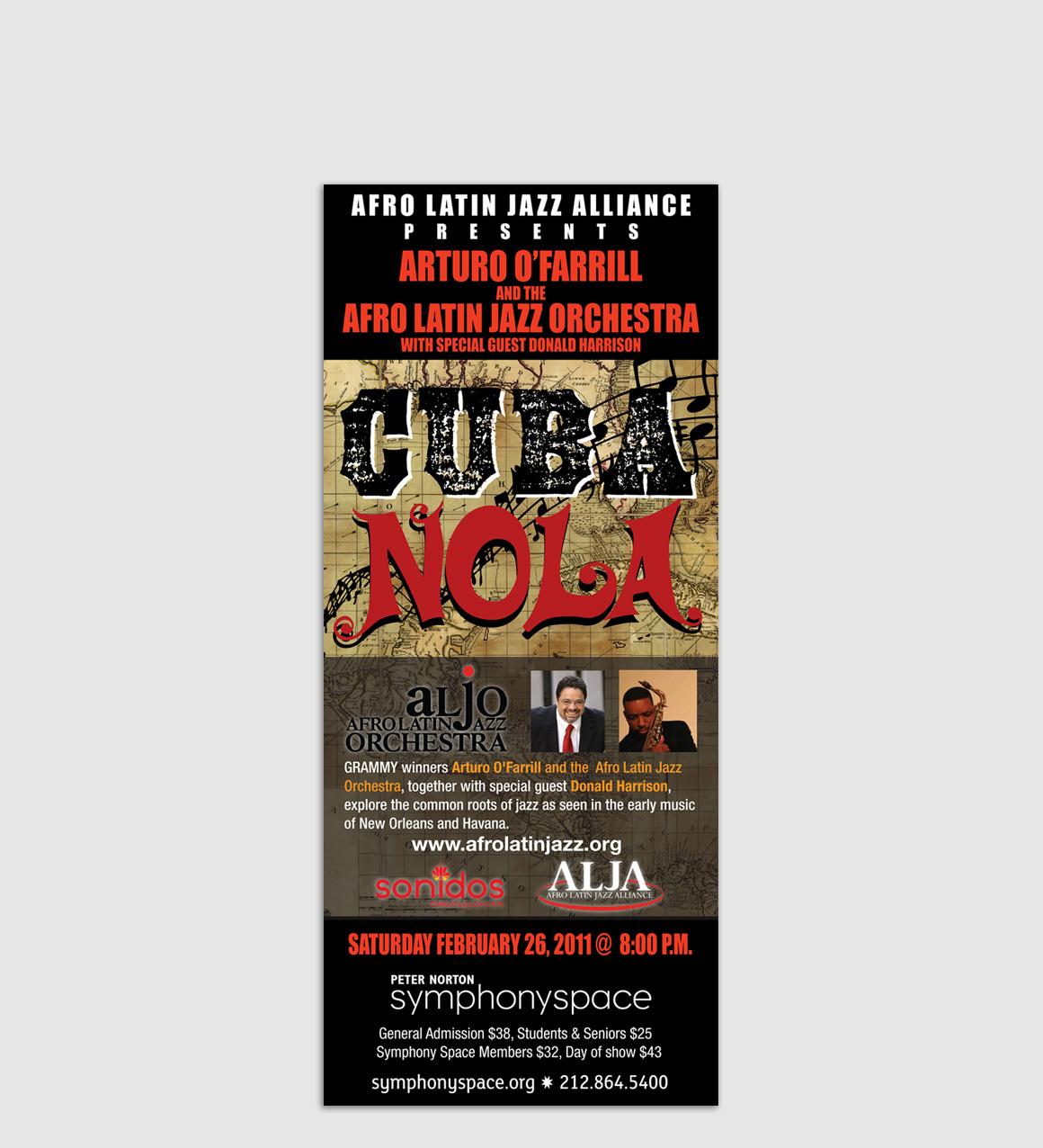 Portfolio: Afro Latin Jazz Orchestra - Popup Stand Design