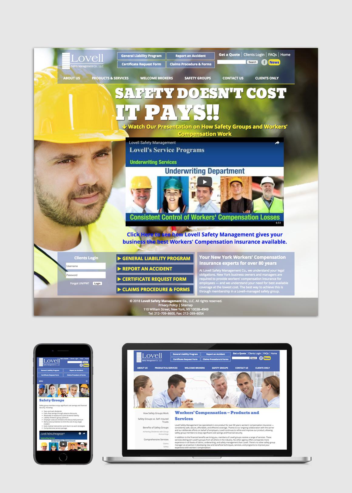 Portfolio: Lovell Safety Management Co. - Web Design and Development