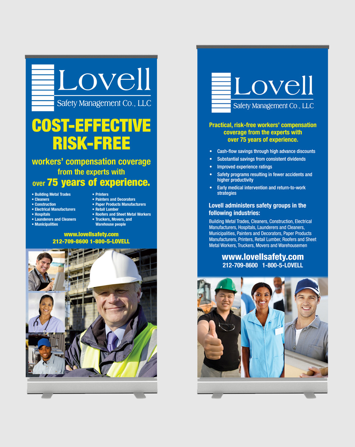 Portfolio: Lovell Safety Management Co. - Popup Stand Design