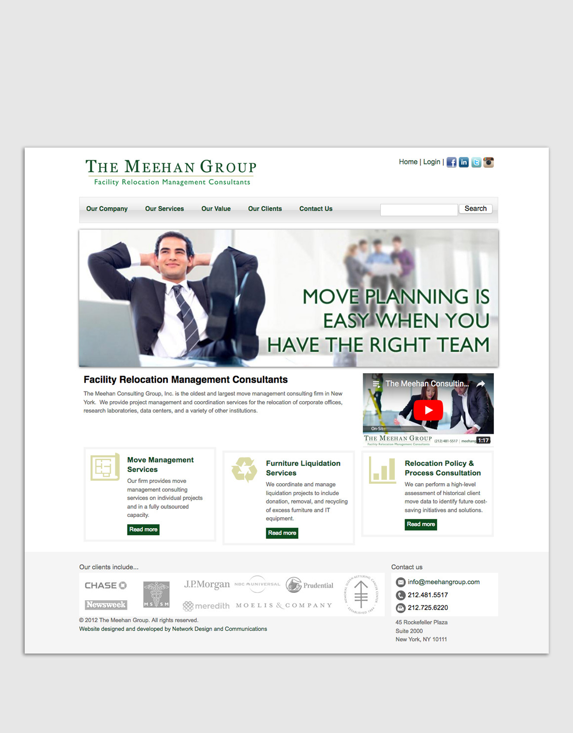 Portfolio: The Meehan Group - Web Design and Development