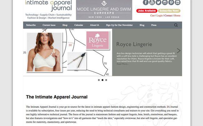 Portfolio: Intimate Apparel Journal